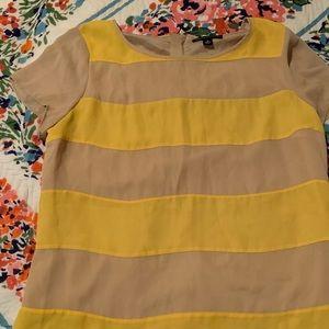 Mustard and khaki short sleeve blouse size 14